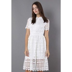 White Crochet Dress (tags on, never been worn)